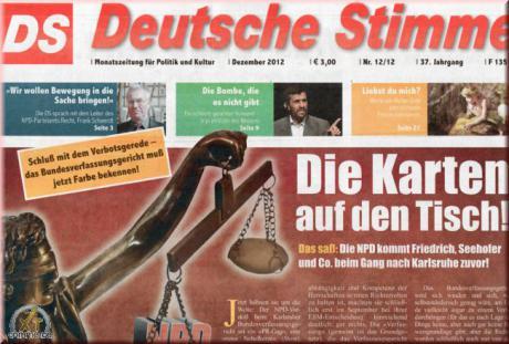 Deutsche Stimme on Saksan kansallisdemokraattisen puolueen sanomalehti.