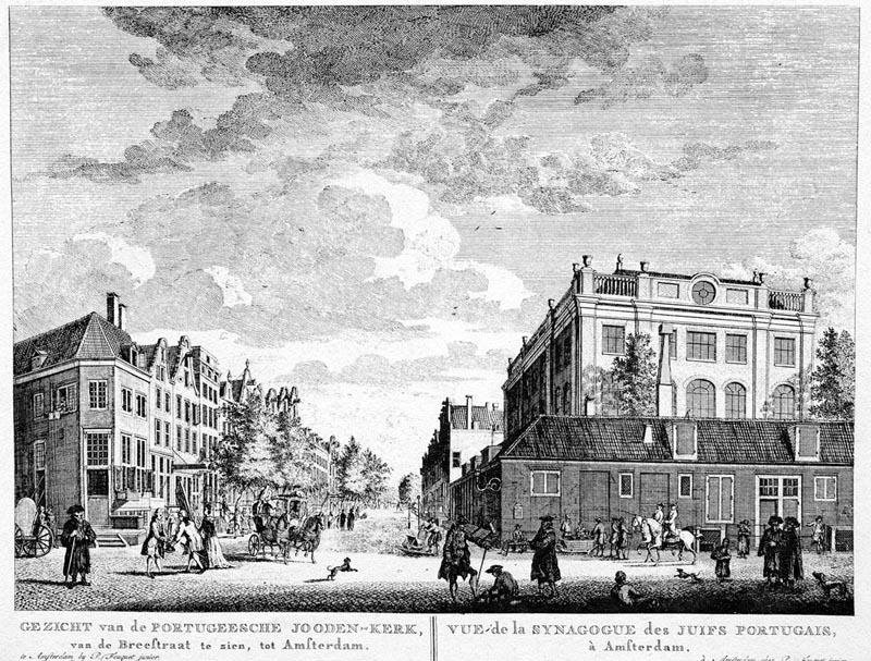 Synagoga Jodenbuurtissa 1700-luvulla