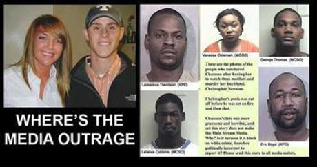 """Kuvan mukaisia kysymyksiä ilmeni toistuvasti tiedotusvälineiden pysyessä hiljaa tapahtuneesta. Median vastine syytöksiin oli, että """"rasistiset"""" tahot """"käyttäisivät hyväkseen"""" tapahtunutta murhaa."""