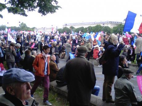Mielenosoittajia Pariisissa viime syksynä 2013.