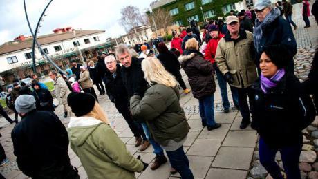 Joulukuussa noin 200 mielenosoittajaa vaati ankarampaa tuomiota eritrealaismiehelle Kristianstadissa.