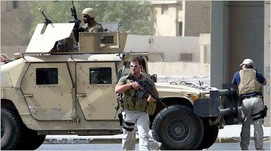 Blackwatersin palkkasotureita Irakissa.