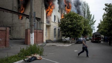 Mariupolin perjantaista yhteenottoa on pidetty yhtenä Ukrainan verisimpinä. (Reuters)