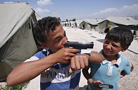 Syyrialaisia pakolaislapsia.
