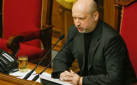 Ukrainan virkaatekevä presidentti Oleksandr Turtšynov. (EPA)