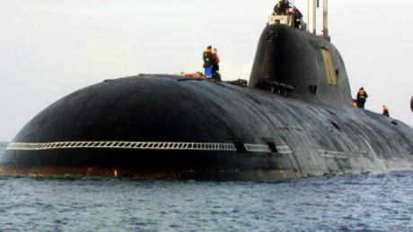 Venäläinen ydinsukellusvene Vepr. (RT)