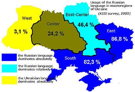Kartta Venäjän geopolitiikasta.