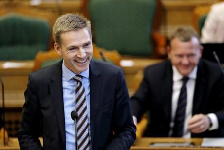 Tanskan kansanpuolueen johtaja Kristian Thulesen Dahl.