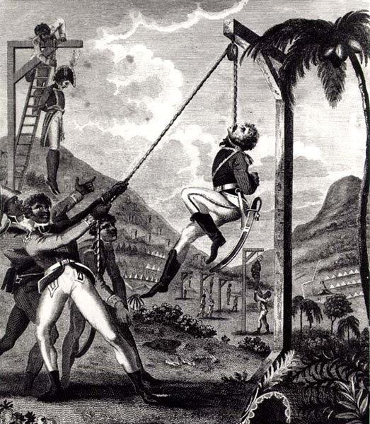 Piirros mustien vallankumouksesta.