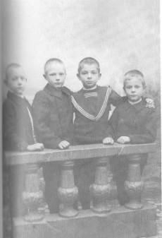 Ystävykset Paul Mattson, Ragnar Nordström, Uno Arvidson ja Sigurd Christierson.