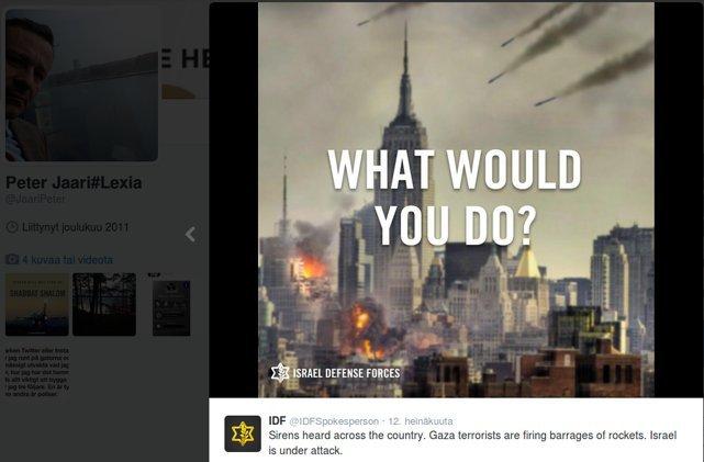 Juutalaisia edustanut asianajaja jakaa sosiaalisessa mediassa Israelin sotapropagandaa.