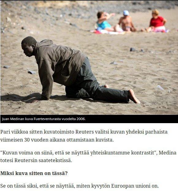 Kertooko kuva Euroopan vai Afrikan kyvyttömyydestä? Harva uskoo enää Helsingin Sanomien sanomaa.