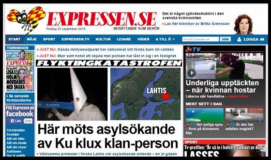 Lahden protestista uutisoitiin myös Ruotsissa.