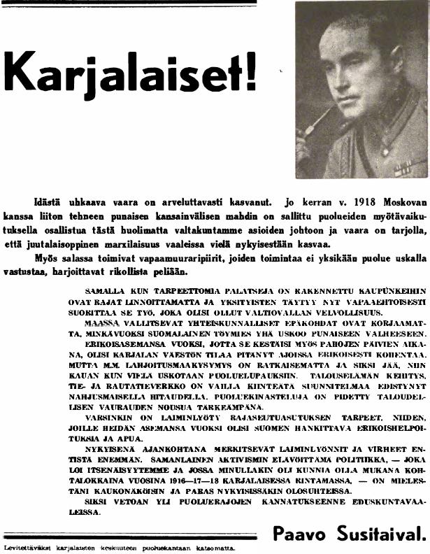 Susitaival hyökkäsi juutalaisuutta vastaan myös vaalikampanjassaan.