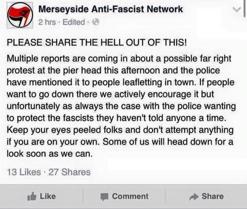 Poliisin ja antifasistien yhteistyöstä huolimatta mielenosoitus sujui hyvin.