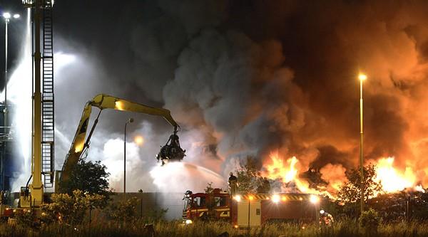Kuva: myös Ruotsissa on palanut vastaanottokeskuksiksi suunniteltuja rakennuksia.