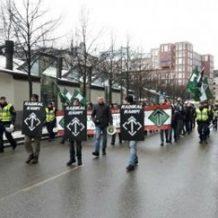 Vastarintaliikkeen mielenosoitus Tukholmassa