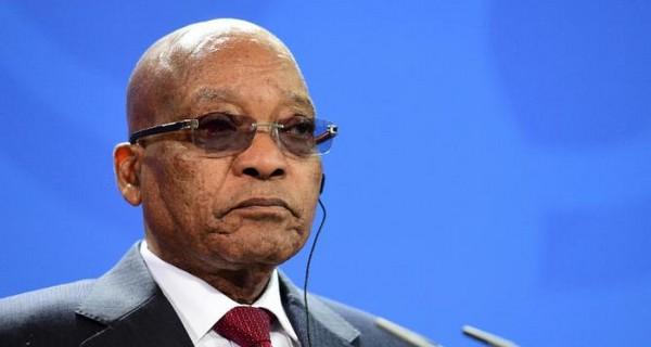 Etelä-Afrikan presidentti ja mustien kommunistipuolueen ANC:n johtaja Jacob Zuma.
