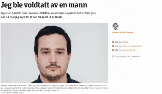 Somaliraiskaajan uhri, vasemmistolainen Karsten Nordal Hauken.