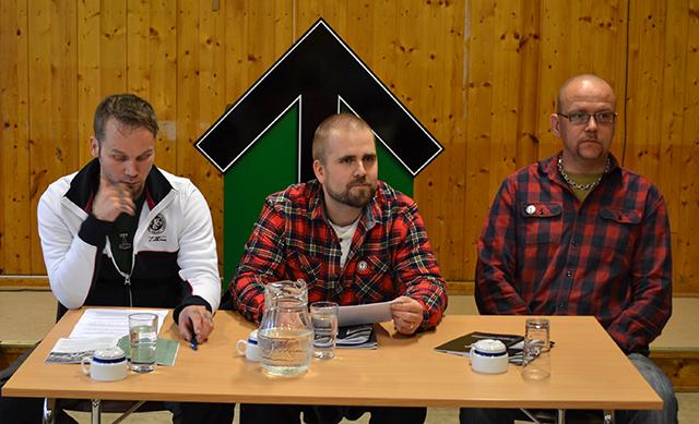 Vasemmalta: Tommy Olsen, Haakon Forwald ja Pär Öberg.
