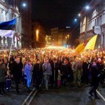 Latvian itsenäisyyspäivän soihtumarssi 18.11.2017